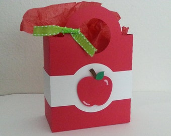 Apple Favor Treat Bag - Set of 2 Bags/Apple/Teacher Appreciation Week/Teacher Appreciation/School Gift/School/Teacher/Classmates/treats