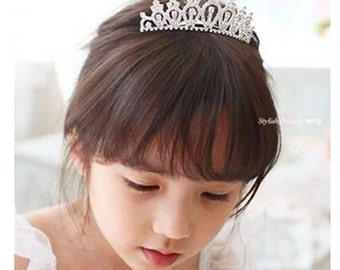 princess tiara flower girl tiara baby tiara  cute tiara baby headband