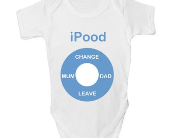 Ipood Funny Baby Cool Cute Grow Clothes Bodysuit Vest Romper Girls Boys Gift
