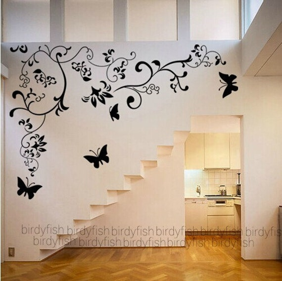 Casa immobiliare accessori stencil farfalle muro for Adesivi decorativi per pareti