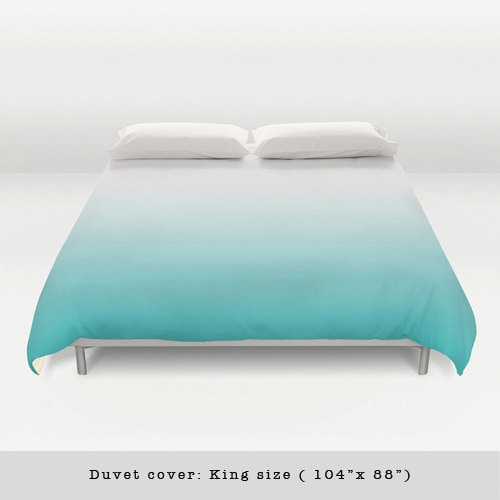 turquoise gradient duvet cover teal gradient duvet cover. Black Bedroom Furniture Sets. Home Design Ideas