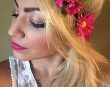 Flower Crown - Pink Daisies