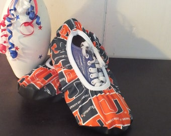 Bowling Shoe Covers (one Pair) Miami Hurricanes Unisex Green & Orange Must Have!