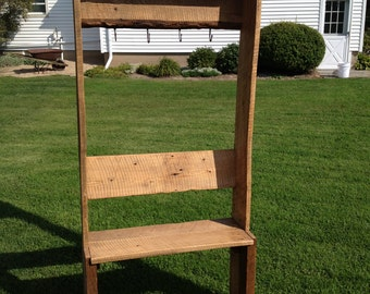 Barnwood Bench and Coat Hanger