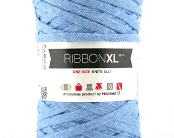 Bulky recycled cotton yarn | French Blue
