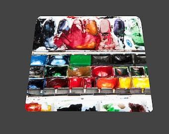 Water color box mouse pad mousepad mouse mat rectangle artsy watercolor palette