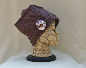 Tweed Hat From Recycled 100% Suit Wool