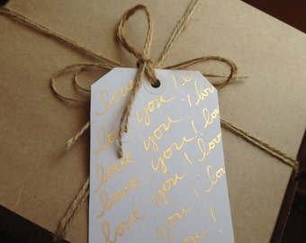 Chic gift tag/ love you