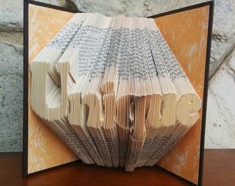 Unique - Folded Book Art - Fully Customizable