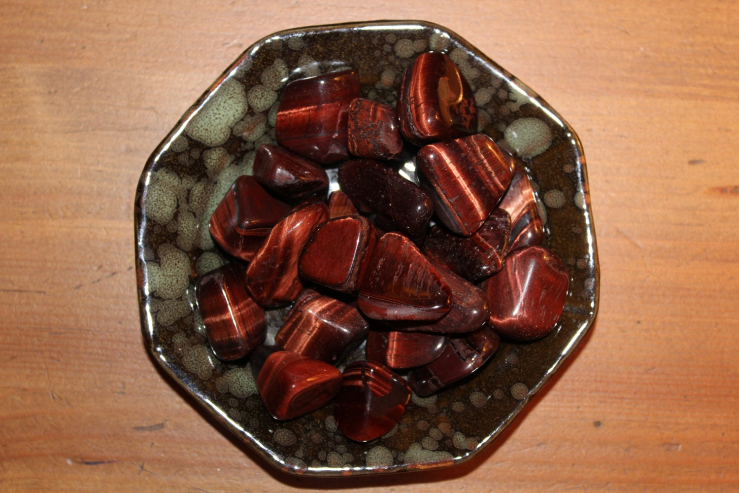 Red Tigers Eye Stone Tigers Eye-Red Tumbled...