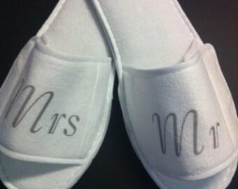 Mr & Mrs Wedding Slippers