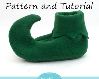 Elf Shoe PDF Pattern and Tutorial--Infant and Toddler Sizes