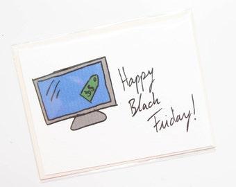 Handmade Happy Black Friday Card