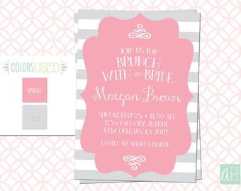 Printable Bridal Brunch Invitation, Bridal Shower, Bridal Luncheon, Bridal Invite