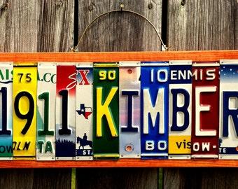 1911 KIMBER License Plate Sign