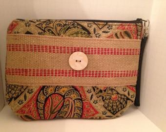 Clutch Burlap Handbag