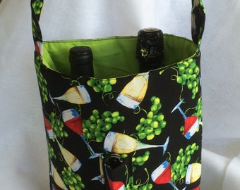 Padded Double Wine Tote with Corkscrew Pocket