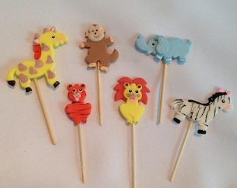 12 pieces Jungle theme party decorations