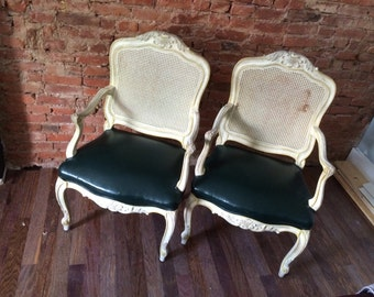 Pair of Louis XV FRENCH provincial chairs