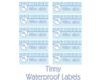 Dolphin Daycare Name Labels, Kids School Labels, Personalized Name Labels -Waterproof Labels Tinny, Dishwasher Safe Labels, Camp Labels