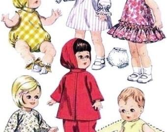 "Pattern 8295 - 7-8"" ~ Ginnette - Wendy-Kin - Babykin ~ Vintage Doll Clothes Pattern"