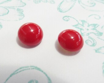 Earrings vintage red Strawberry Kiss