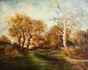 European art 1988 oil painting landscape