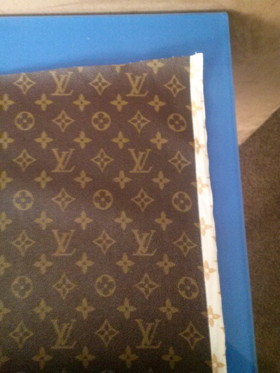 Louis vuitton tan and brown vinyl fabric by by - Louis vuitton fabric for car interior ...