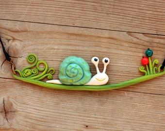 Necklace. Snail.