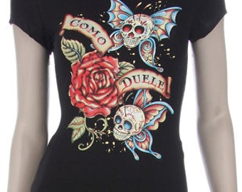 Como Duelle - Day of the Dead Print Shirt