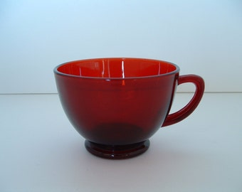 Vintage Anchor Hocking Royal Ruby Punch Or Snack Cup