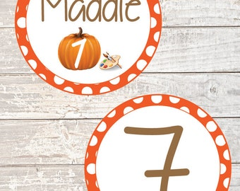 Pumpkin Painting Party Cupcake Topper - Printable