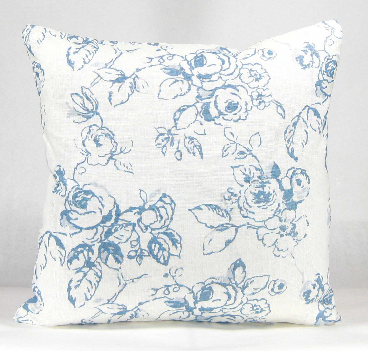 Blue French Country Pillow Wedgewood Blue and White French
