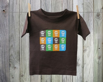 Fun and Funky Graphic Skulls Tshirt for Kids. Perfect for Boys!