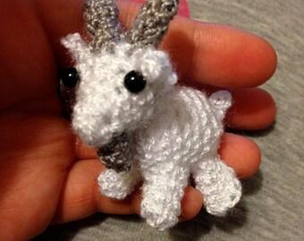 Mini Crocheted Goat (2.5in)