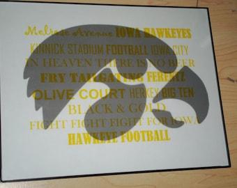 Hawkeye Subway Word Art