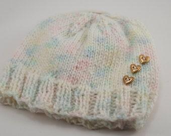 Knit Baby Hat Gender Neutral, Multicolor