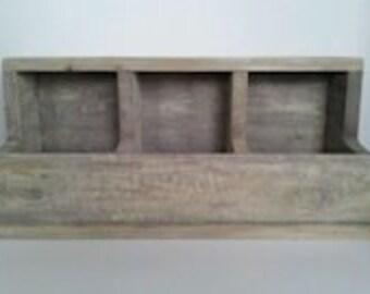 Primitive Country Farmhouse Decor Antiqued Vintage Look Storage Bin Box