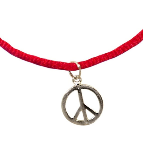 peace sign protection bracelet