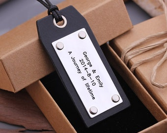Custom Leather Luggage Tags - Handstamp Luggage Tags - Travel Luggage tag - Graduation Gift