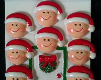 Personalized Family of 8 Ornament