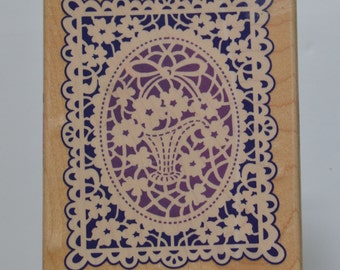 STAMPENDOUS (1995) Card Size Doily Image!