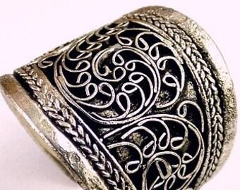 JEWEL ring chiseled Tibetan ref 3678
