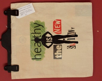 Healthy - Full Colour Image Transfer Tote Bag