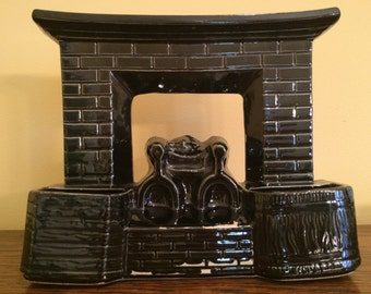McCoy Fireplace TV Lamp Planter