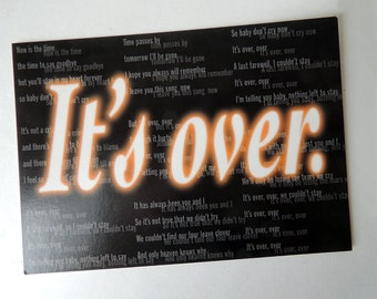 It's over Farewell Postcard