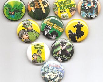 The Green Hornet  Set of 10 Pins Button Badge Pinback