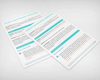 Modern Website Maintenance Contract Template