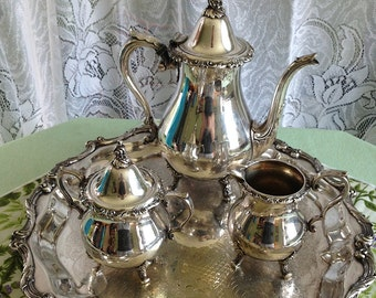5 piece Silver plated tea service