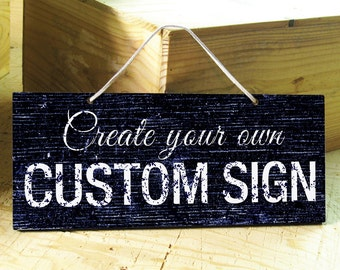 LONDON - Custom Signs in White, Brown, Blue, Navy, Black. Door Sign. Office Sign. Wedding Decor. Rustic Signs. Nursery Decor. Bar Sign